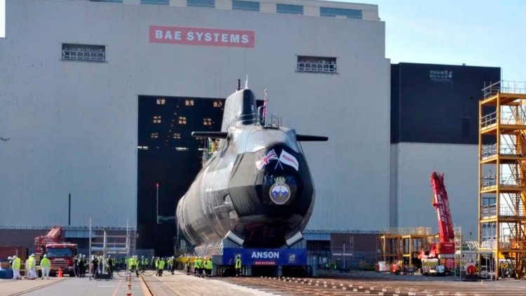 Fifth state-of-the-art Astute submarine is launched