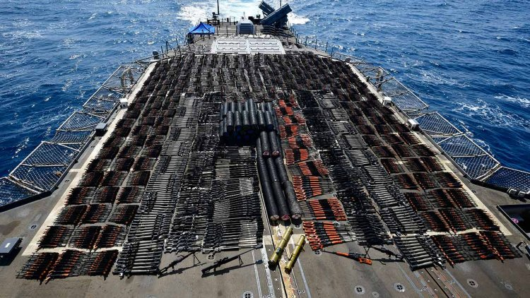 US Navy seizes 'Russian and Chinese arms' in the North Arabian Sea