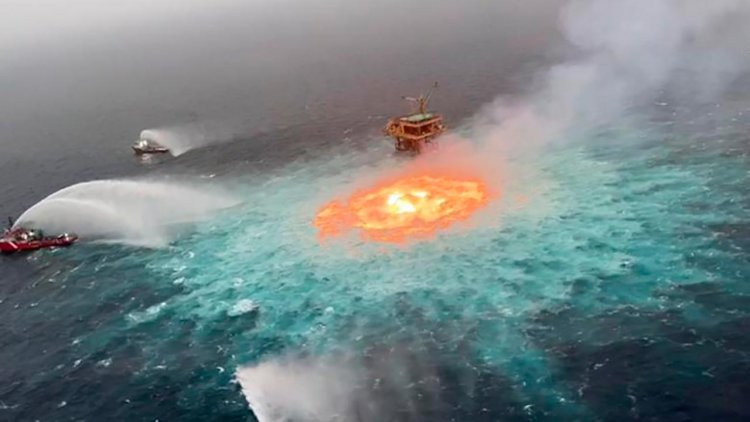 Gas leak responsible fire for 'Eye of fire' in Mexican waters, says Pemex