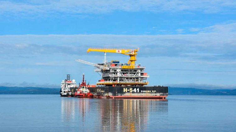 Record-breaking platform transported to the Hod Field