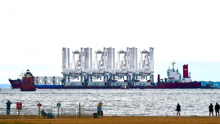 Port of Baltimore welcomes four additional gigantic cranes to service container ships