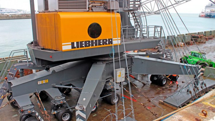 Two new Liebherr cranes arrive to enhance Dover Cargo's operation